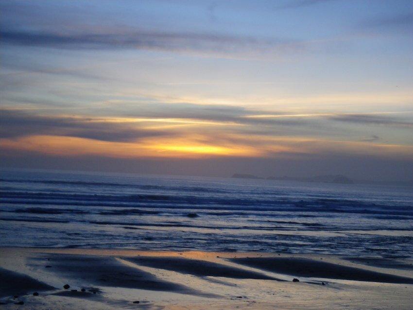 Newgale beach Pembrokeshire sunset