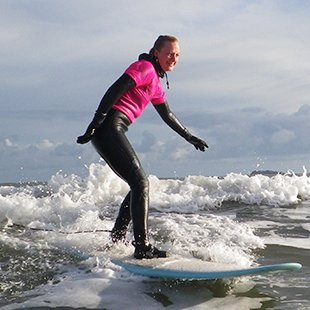 Adult surf lessons in West Wales, Newgale Beach near St Davids Pembrokeshire