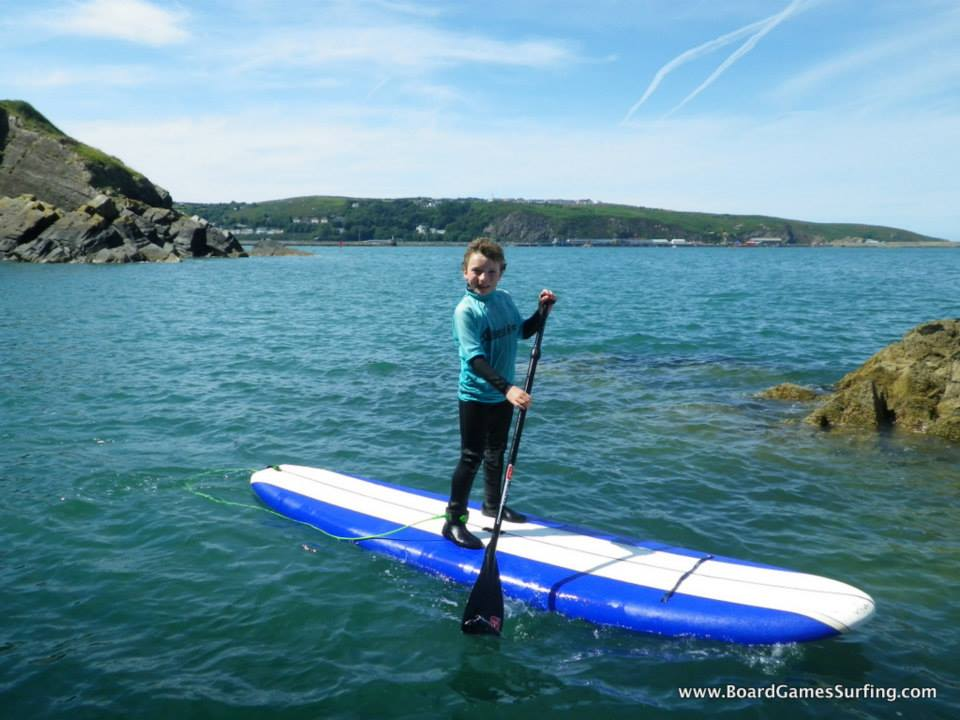 Children Paddleboarding in Pembrokeshire