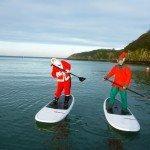 Santa & Elf Paddle Boarding Fishguard