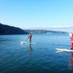 Santa Paddleboarding in Fishguard