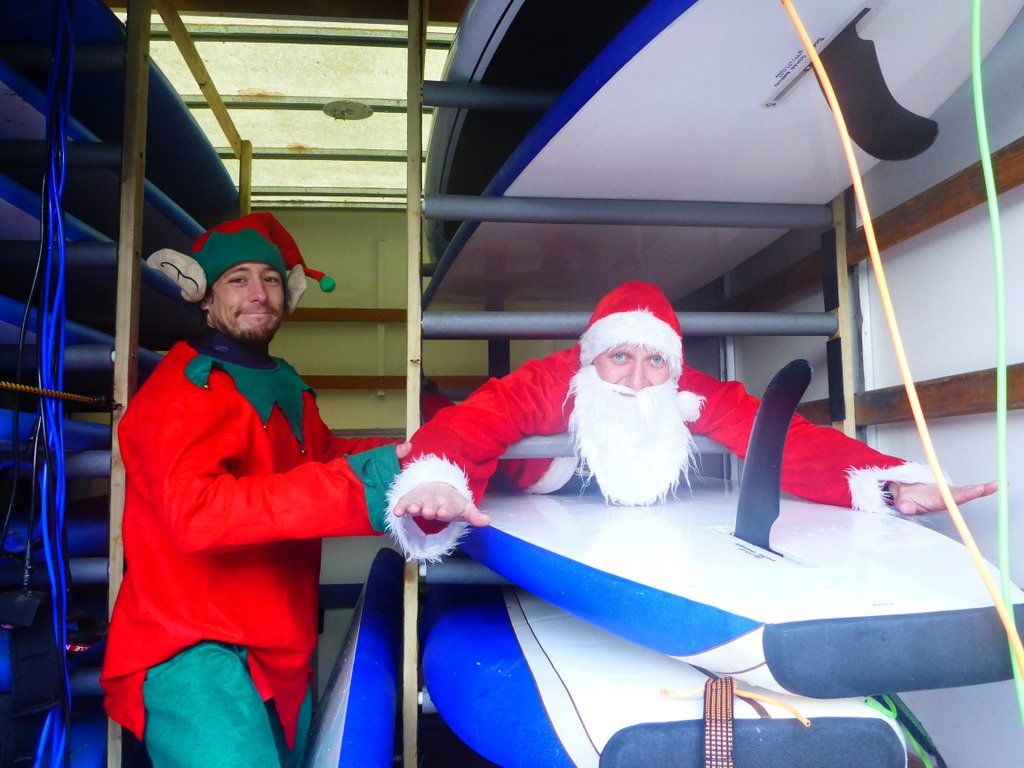 Santa's tried Paddle Boarding, will you?