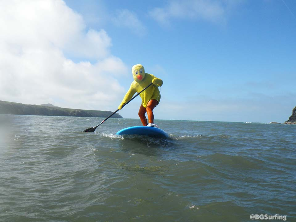 Smoooooth SUPing along the Pembrokeshire Coast