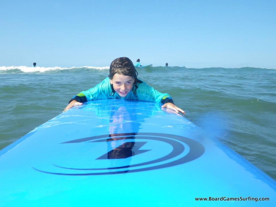 Kids surfing in Wales