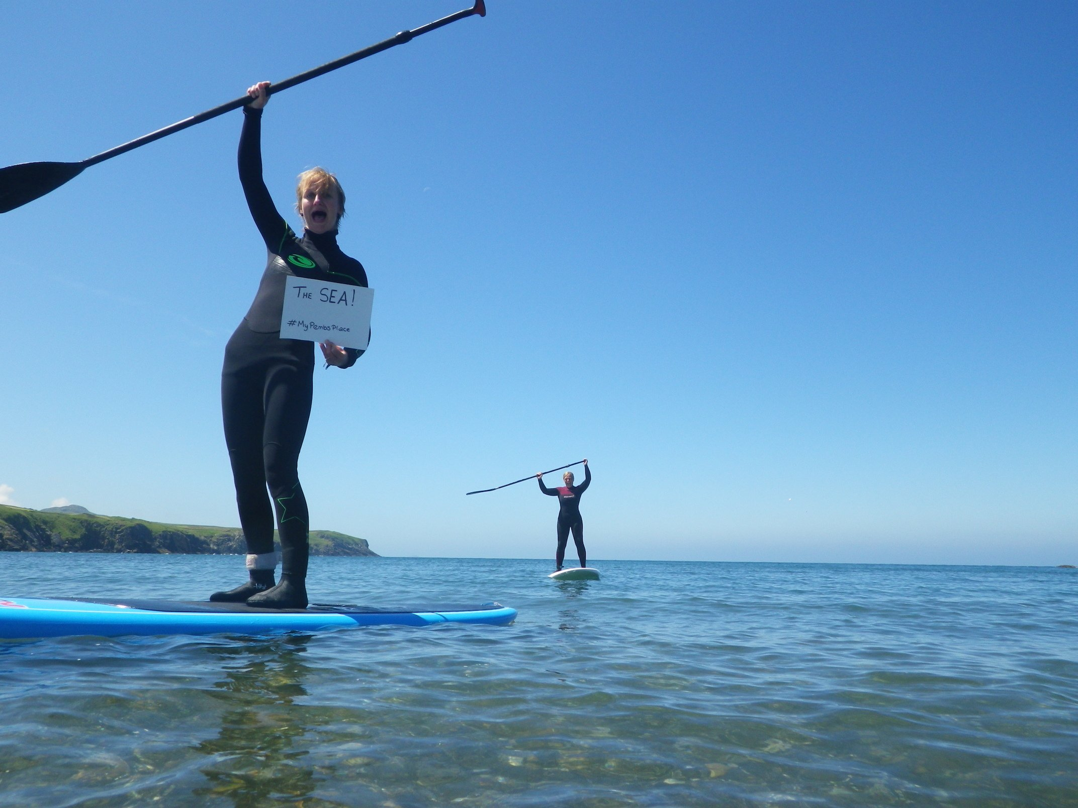 MyPembsPlace – Paddleboarding in the Sea