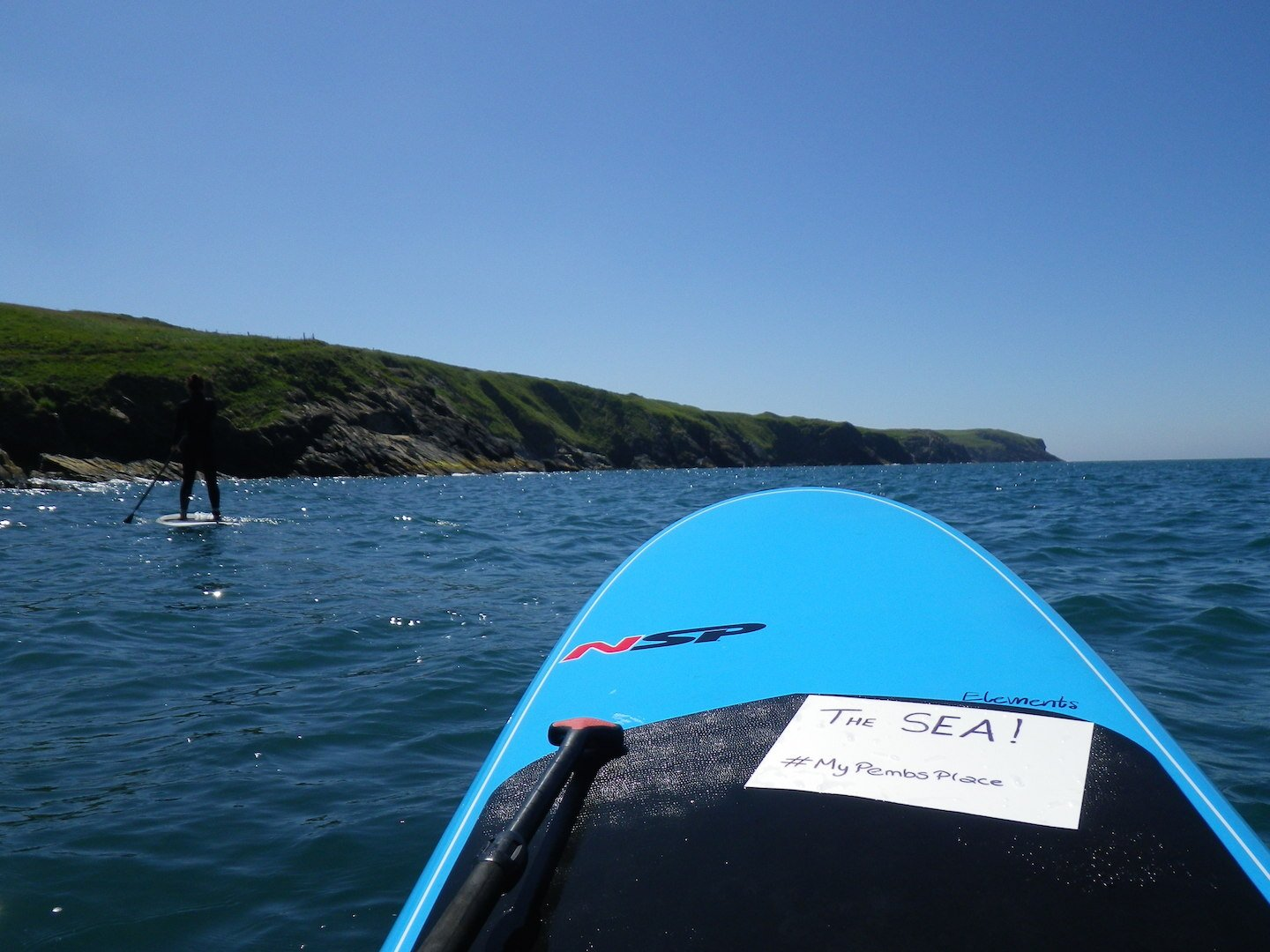 Paddleboarding views of Pembrokeshire Coast