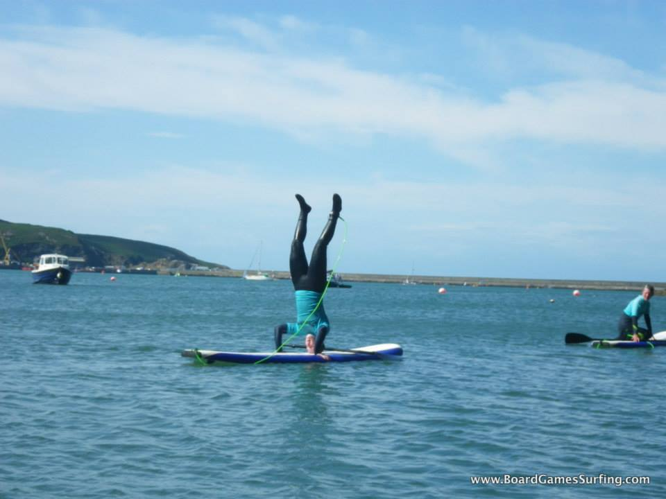 Paddleboarding Headstand