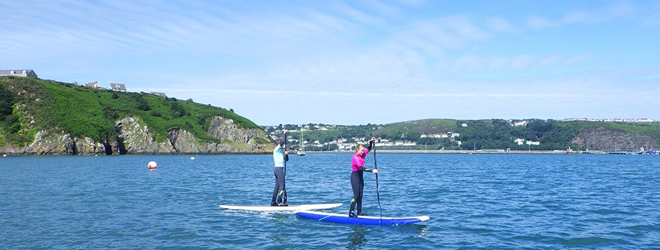 Paddle Boarding lessons for children and adults in North Pembrokeshire Wales