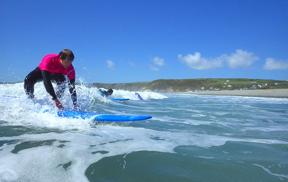 Adult surf lessons in West Wales