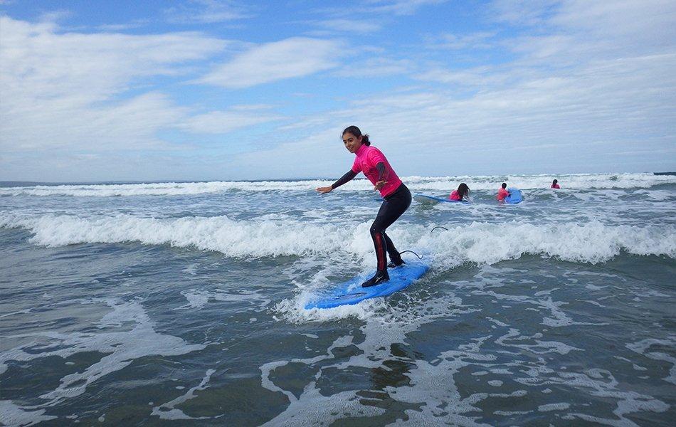 Children surf lessons in Pembrokeshire