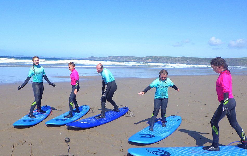 Family Surf lessons in Wales