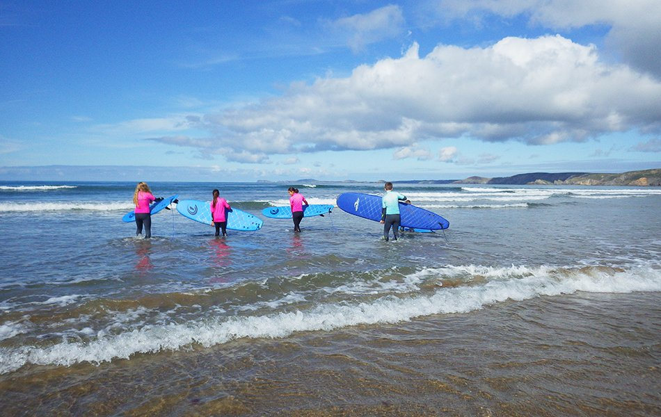 Family surfing and watersports in Wales