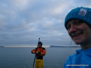 Feeling a little chilly paddling the Pembrokeshire coastal Adventures