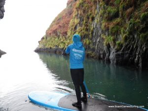 Sporting the new Board Games team SUP hoodie on Adventures