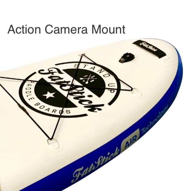 Action camera mount on iSUP