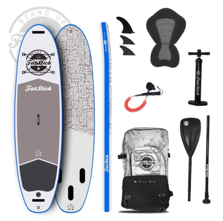 Fatstick 10'6 iSUP white package